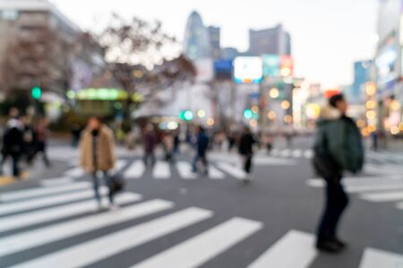 Photo for abstract blur shopping street at Shinjuku in Tokyo, Japan for background - Royalty Free Image