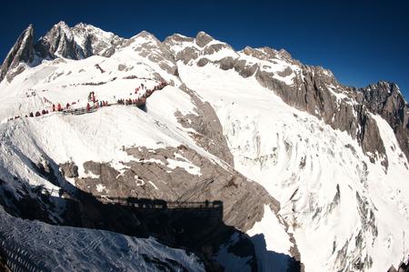 Viewpoint of Jade dragon snow mountain,Lijiang,Yunan,Southwestern of China