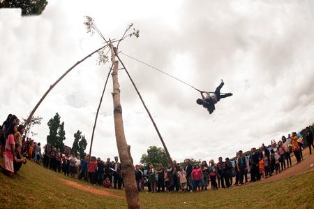 The Akha Swing Festival.
