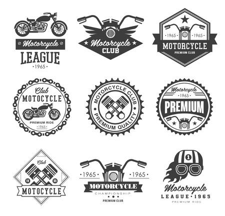 Illustration pour Badges, emblems Motorcycle Collections vector logo set - image libre de droit