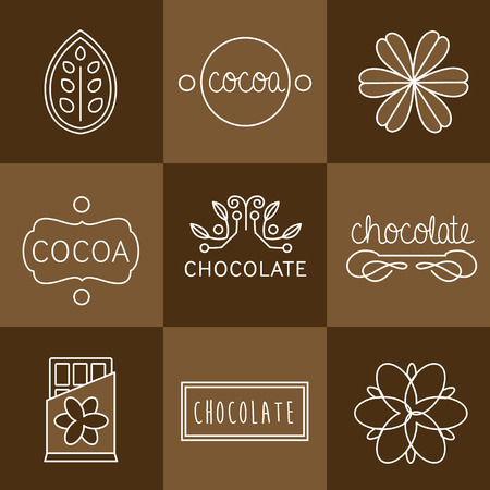 Cocoa Icon, signs and badges chocolate