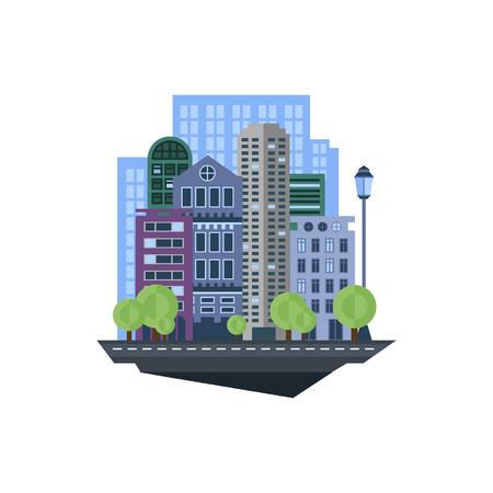 Illustration pour Modern Urban Landscape.  - image libre de droit