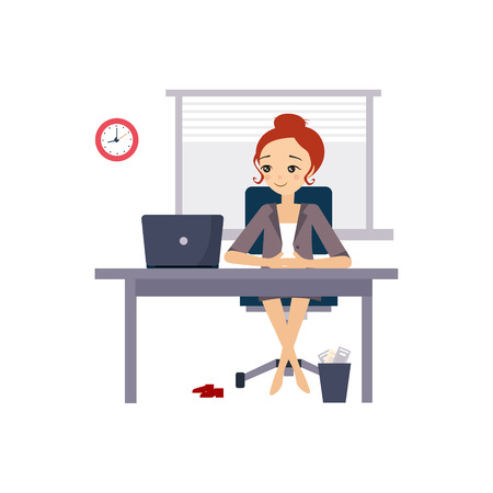 Woman at Office. Daily Routine Activities of Women.
