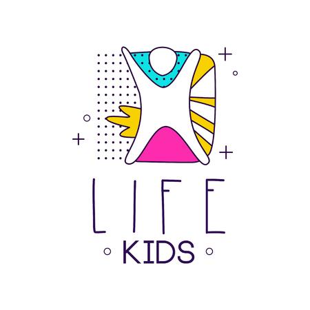 Kids Life Icon Design Element For Kids Club Development Center