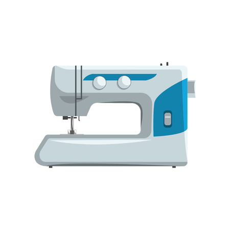 Illustration pour Modern sewing machine, dressmakers equipment vector Illustration isolated on a white background. - image libre de droit