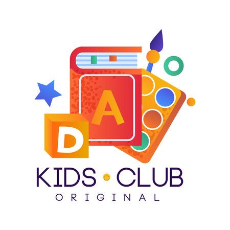 Kids Club Original Colorful Creative Label Template Science
