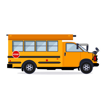 Illustration for School bus vector illustration flat style concept - Royalty Free Image