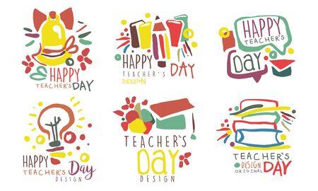 Set for the celebration of teachers day. Vector illustration.