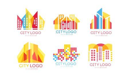 Vektor für City Design Vector Set. Real Estate Emblem Concept - Lizenzfreies Bild