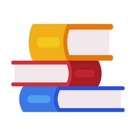Illustration pour Stack of Colorful Books, Reading and Education, Back to School Concept Flat Style Vector Illustration - image libre de droit