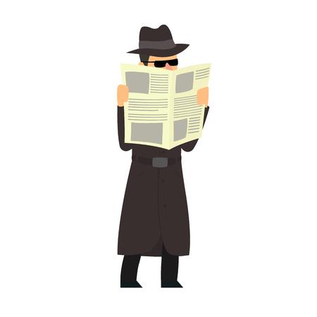 Vektor für Detective conducts covert surveillance. vector illustration - Lizenzfreies Bild