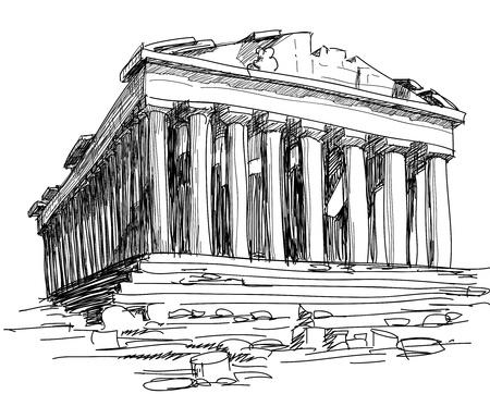 Greece Parthenon sketch
