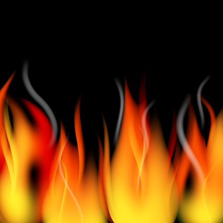 Fire flames and smoke background
