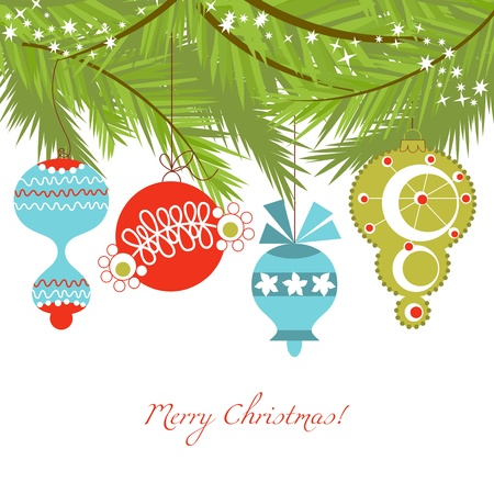 Christmas ornaments vector background