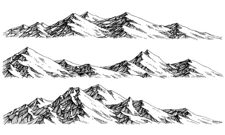 Mountains ranges. Vector panorama