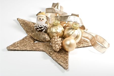 Decoration for christmas in gold