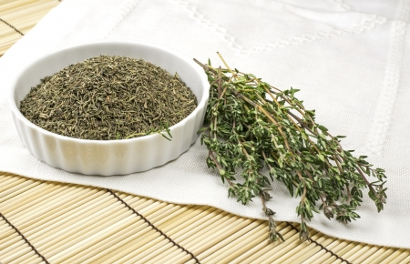 Dried and fresh thyme