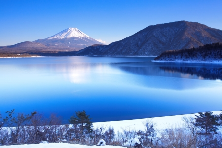 Photo for Mountain Fuji in winter  - Royalty Free Image