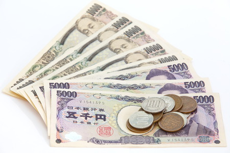 Japanese YEN note and coins