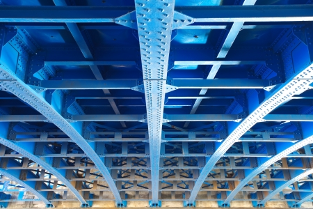 Photo for steel construction from under the bridge - Royalty Free Image