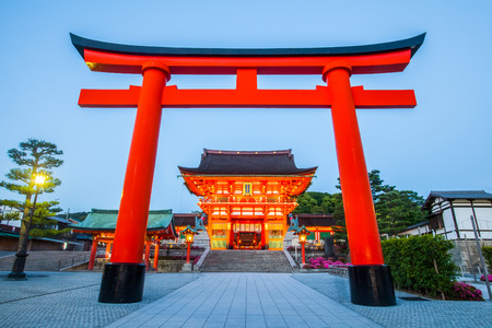 Foto de Fushimi Inari Shrine ,  Famous and important Shinto shrine in southern Kyoto , Japan - Imagen libre de derechos