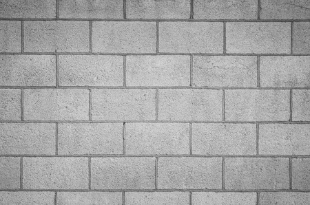 Photo pour Concrete block wall seamless background and texture - image libre de droit