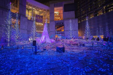 Best Tokyo christmas and winter season Illuminations at Shiodome