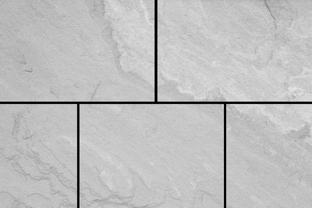 Photo for Outdoor stone block tile floor background and texture pattern - Royalty Free Image