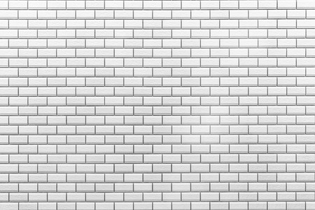 Photo for White brick tile wall seamless background and texture - Royalty Free Image
