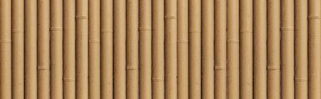 Photo pour Panorama of Bamboo fence texture and background - image libre de droit