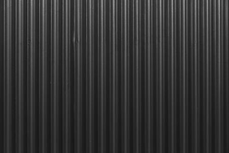 Foto de Black Corrugated metal texture surface or galvanize steel - Imagen libre de derechos