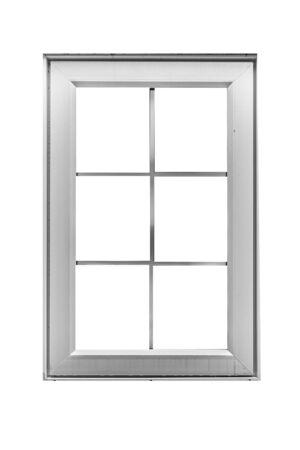 Photo pour White wood window frame isolated on white background - image libre de droit