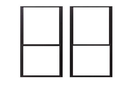 Photo pour Aluminium window frame isolated on white background - image libre de droit