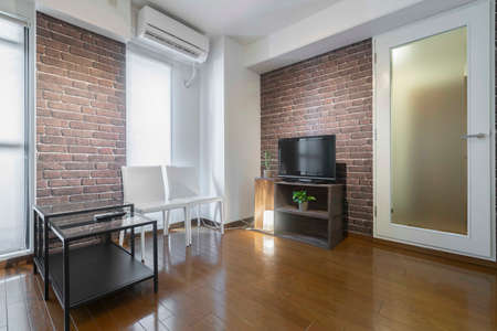 Photo pour Modern interior of a small private apartment, sitting room - image libre de droit