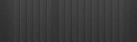 Photo pour Panorama of Black Corrugated metal background and texture surface or galvanize steel - image libre de droit