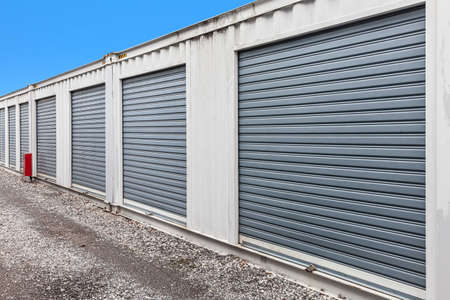 Photo for Outside atmosphere of a small rental storage room - Royalty Free Image