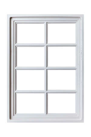 Photo for Vintage white wood window frame isolaed on a white background - Royalty Free Image