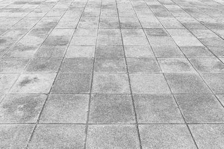 Photo for Perspective View Monotone Gray Brick Stone Pavement on The Ground for Street Road - Royalty Free Image