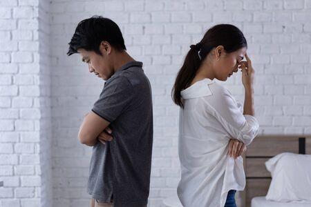 Photo pour Asian couple, they are   arguing  . - image libre de droit