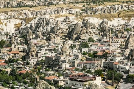 The town of Goreme-Cappadocia, the tourism capital of Turkey