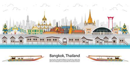 Illustration pour Travel to Thailand and landmarks - image libre de droit