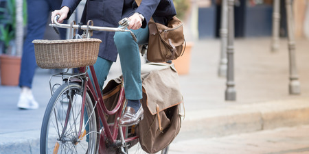 Riding the bike in the city, urban concepts