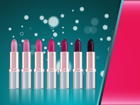 Fashion lipstick magazine ads Vector illustration.の素材 [FY31097565515]
