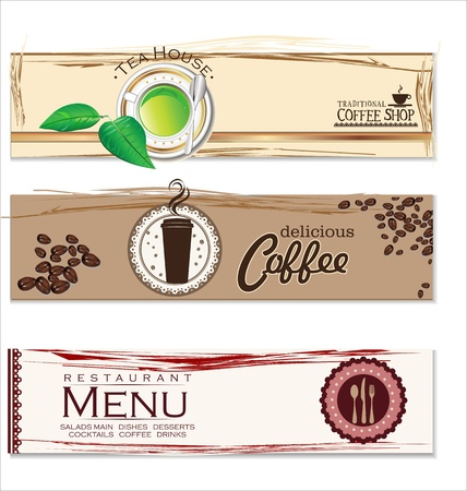 Cafe and restaurant label