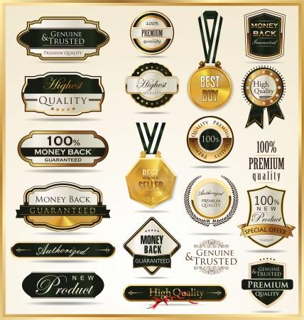 Luxury golden shields