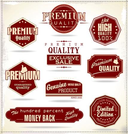 Foto de Set of Retro Vintage labels  - Imagen libre de derechos