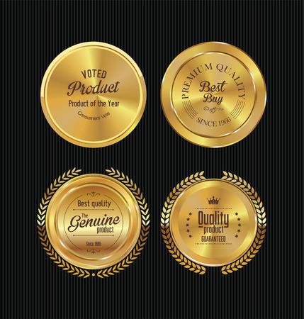 Ilustración de Golden labels collection - Imagen libre de derechos