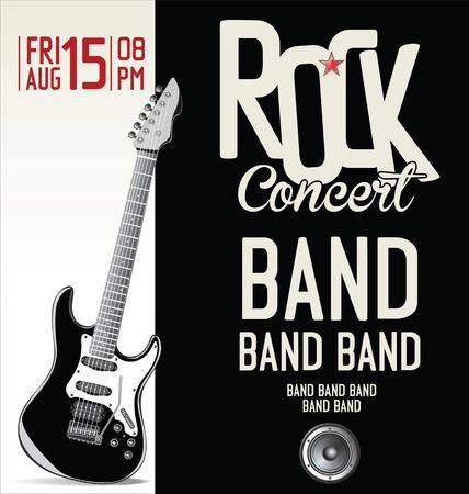Illustration pour Rock music retro banner - image libre de droit