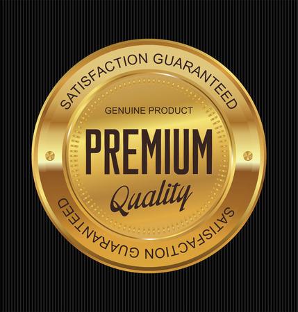 Illustration pour Premium quality guaranteed golden label - image libre de droit