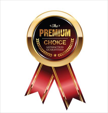 Illustration pour Premium quality badge - image libre de droit